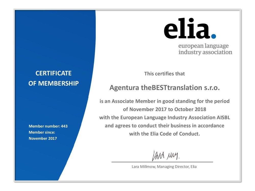 Elia membership